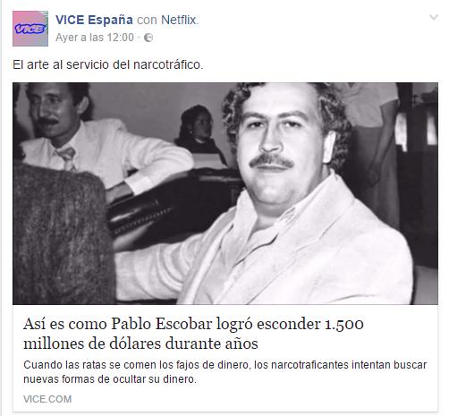 pablo escobar y click baiting redes sociales en almeria