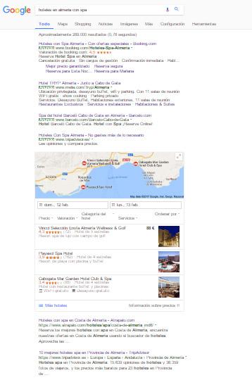 publicidad google y posicionamiento seo marketing online para hoteles, hostales y casas rurales