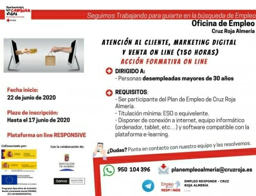 Curso Gratuito Atención al cliente, marketing digital y venta on line en Almería
